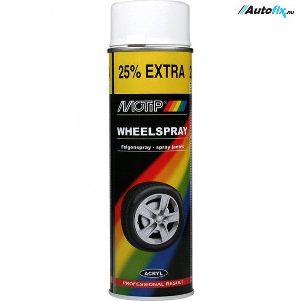 Hvid Fælgmaling  - MoTip - Spray 500 ml.