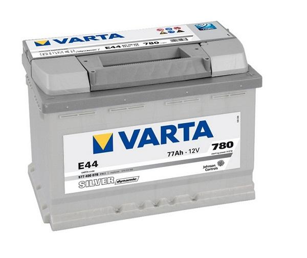 Bilbatteri - VARTA E44 SILVER DYNAMIC - 577 400 078 (12 volt, 77 amp) - VARTA - Autofix.nu