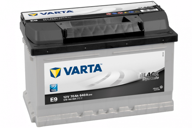 Bilbatteri - VARTA E9 BLACK DYNAMIC - 570 144 064 (12 volt, 70 amp) - VARTA - Autofix.nu
