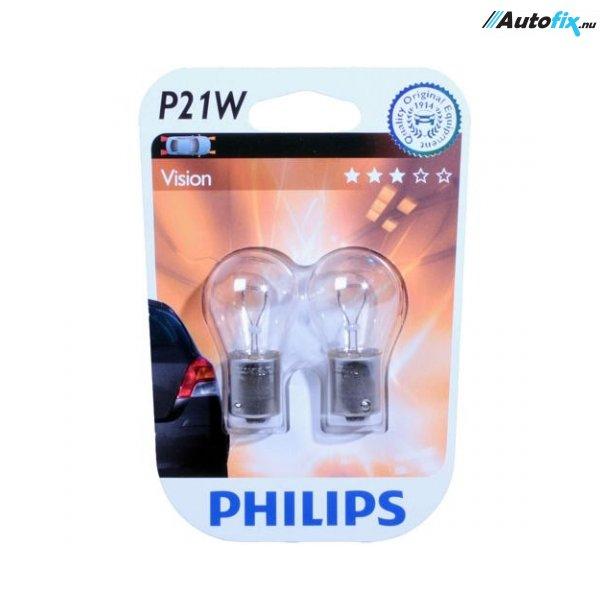 P21W Pære 12V - Philips Premium - (2 Stk)