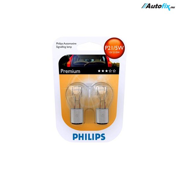 P21/5W Pære - Philips Premium - (2 Stk)