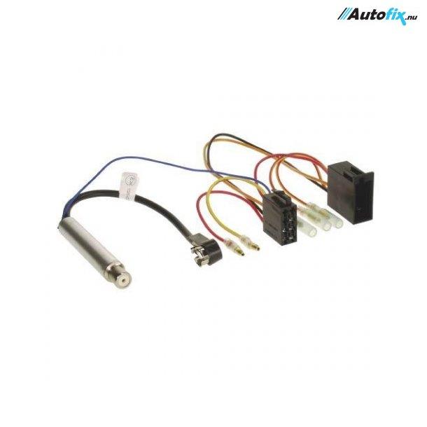 ISO-/Multistik M/ Antenneforstærker - Audi / Seat / Skoda / VW