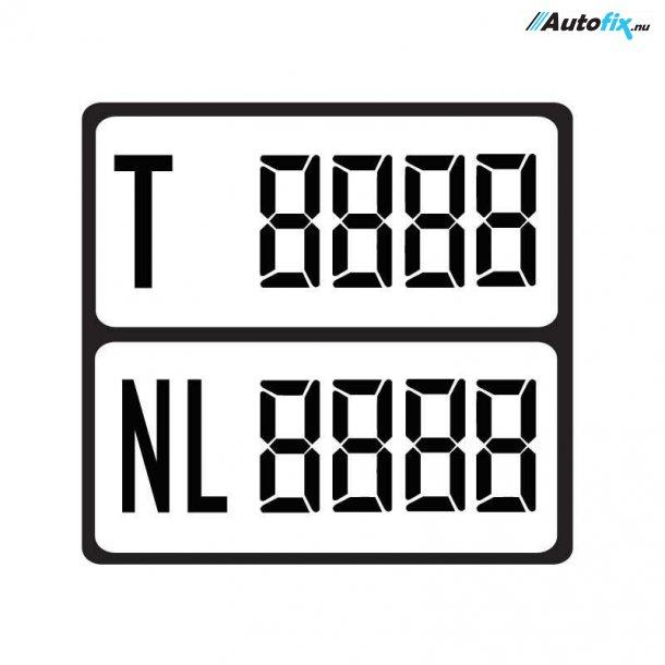 Digital Vægttavler Sort - Med Nyttelast - 1 stk M. 4x Cifre