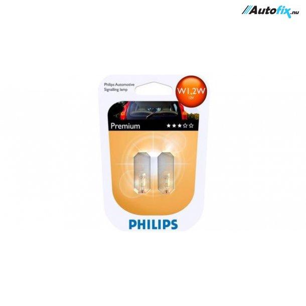 W1,2W Philips Premium (2 Stk) (Glassokkel) (12516)