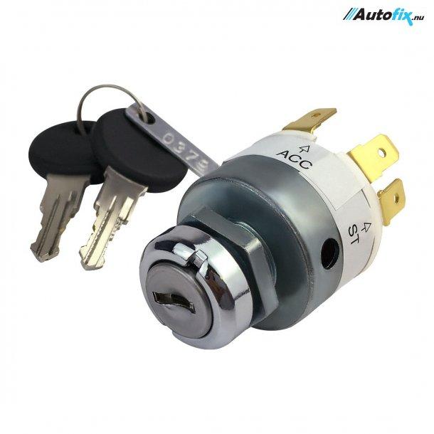 Tændingslås 12V Universal - M/ 2 stk. Nøgler