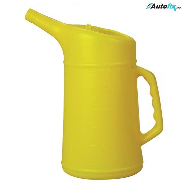 Oliekande Gul - Brudsikkert Plast - 3,0 Ltr