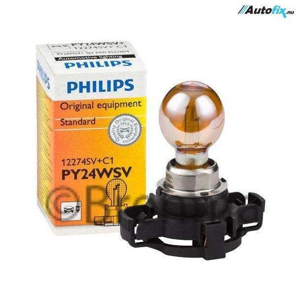 PY24W Philips 12V 24W (12274SV+C1)