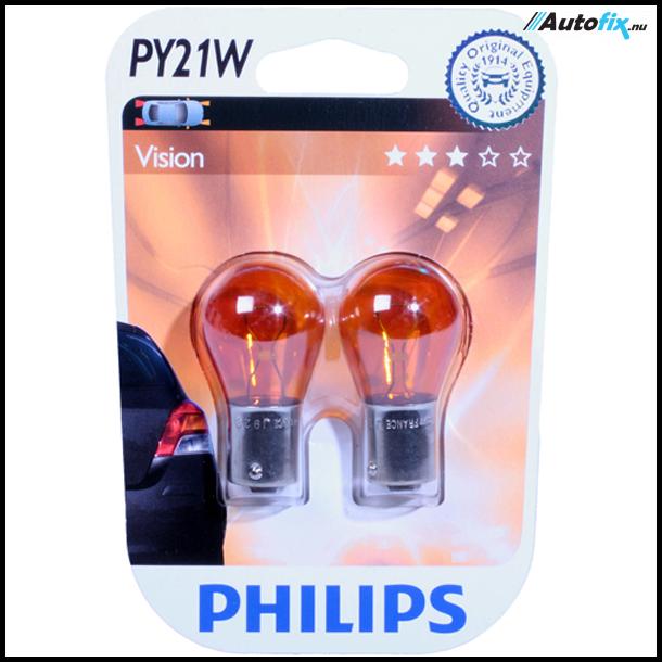 PY21W Pære - Philips Premium Orange - 2 Stk (12496)