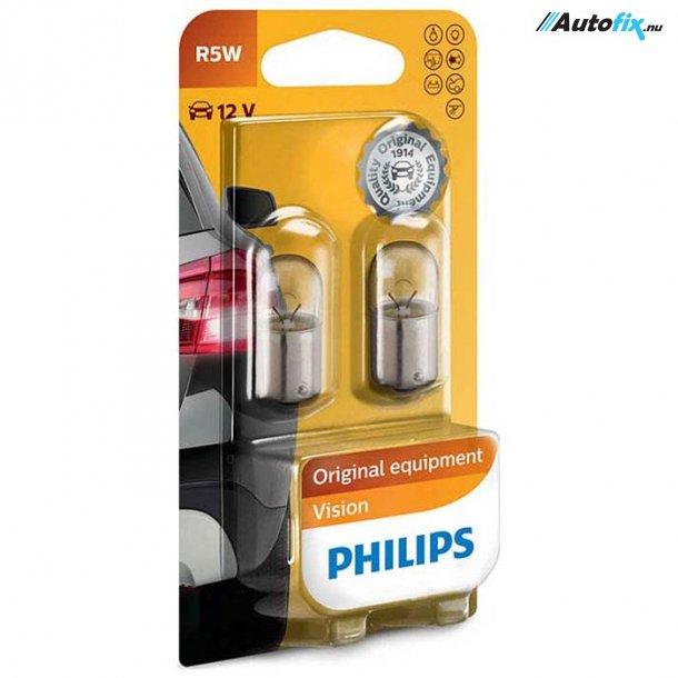 R5W Pære 12V - Philips Premium - (2 stk)