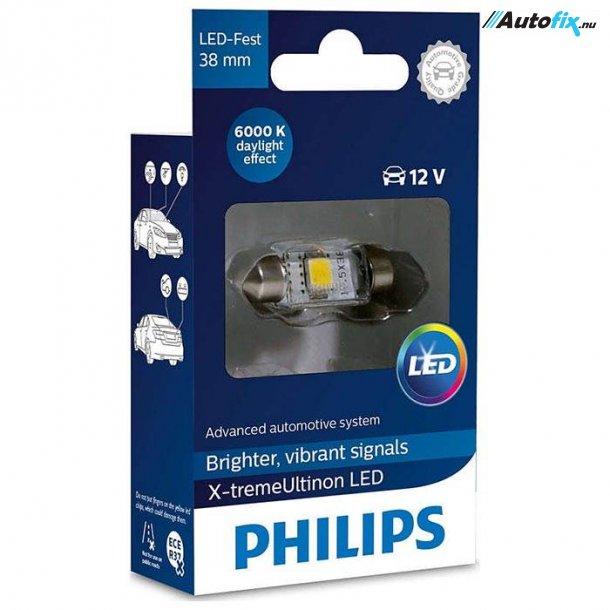 Philips - LED Pinol Pærer C5W - 6000K 12V (1 stk)