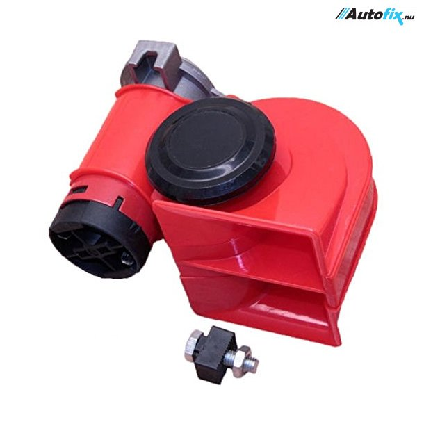 2-Tonet KompressorHorn - Rød - 12V (115DB)