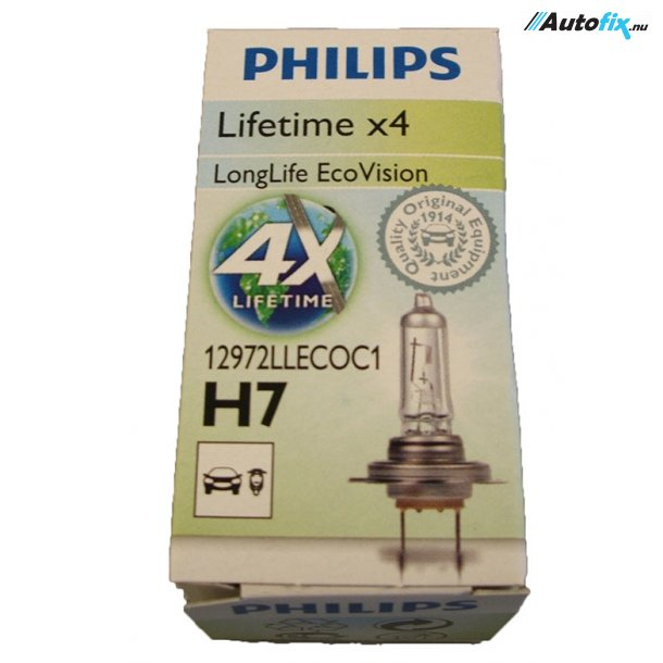 Philips - H7 LongLife EcoVision – LifeTime X4