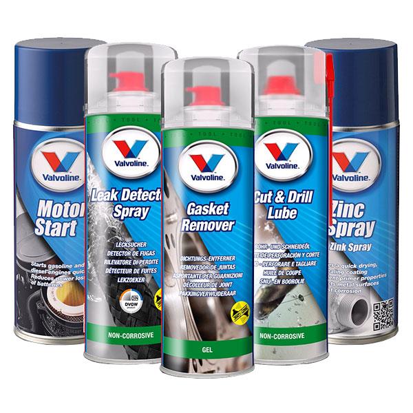 Sprayværktøj (Motorstart & Lækage Søger, Pakningsfjerner mm.)