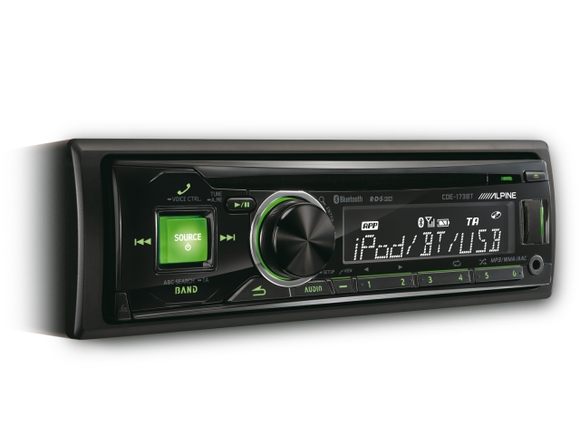 alpine cde 173bt cd receiver m bluetooth 1din. Black Bedroom Furniture Sets. Home Design Ideas
